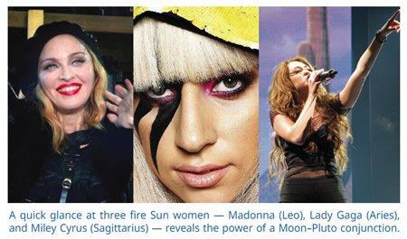 Madona Lady Gaga Miley Cyrus